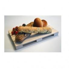 Tagliere/Vassoio minipallet in legno, dimensioni 40x15 cm