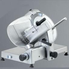 Affettatrice a gravità, trasmissione a cinghia, a norme CE, lama 350 mm, disponibile sia monofase che trifase, capacità di taglio 300x260 mm Ø 260 mm, modello BM-AF350GR