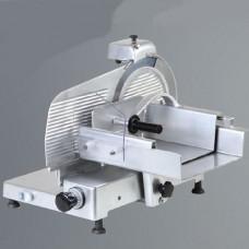 Affettacarne verticale, trasmissione a cinghia, a norme CE, lama 300 mm, disponibile sia monofase che trifase, capacità di taglio 270x190 mm Ø 190 mm, modello BM-AF300VM