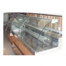 Arredamento per pasticceria seminuovo, completo di vetrina fredda e vetrina calda