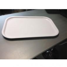 Vassoio bianco in plastica resistente, dimensioni 57x38xh2 cm, idoneo al contatto alimentare, ideale per utilizzo in cucina, modello SC-8500RC3/BI