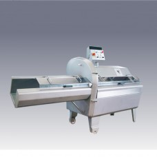 Cotolettatrice da pavimento in acciaio inox due velocità, dimensioni 2368x833x1440h mm, Spessore taglio da 2 a 90 mm