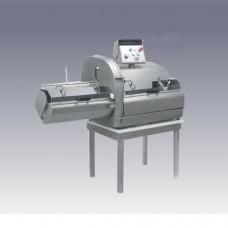 Cotolettatrice da banco in acciaio inox due velocità, dimensioni 1550x685x1320h mm, Spessore taglio da 2 a 45 mm