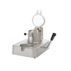 Hamburgatrice manuale in ghisa verniciata con stampo di Ø 100 mm, dimenisoni 160x300x200h mm
