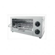 Tostapane a 1 livello, telaio in acciaio inox, 3 pinze incluse, dimensioni 330x225xh170 mm
