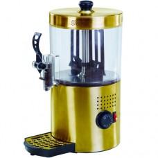 Cioccolatiera, erogatore cioccolata calda, capacità 3 litri, vasca in policarbonato, riscaldamento diretto con mescolamento continuo, dimensioni 210x210x380h mm