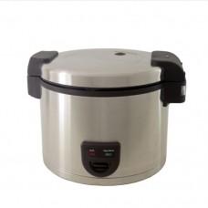 Cuociriso, permette una rapida cottura e il mantenimento del riso una volta cotto, temperatura +165°C, capacità acqua 8 litri, dimensioni Ø 320x350h mm