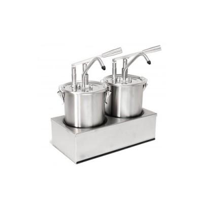 Dosatore per salse in acciaio inox, capacità 10 lt, dimensioni 405x205xh435 mm