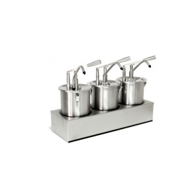 Dosatore per salse in acciaio inox, capacità 15 lt, dimensioni 605x205xh435 mm