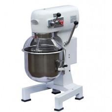 Impastatrice planetaria professionale, basamento in ghisa vasca in acciaio inox AISI 304, volume vasca 30 Lt, dimensioni 550x500x890 mm