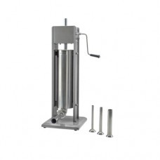 Insaccatrice verticale in acciaio inox, capacità 3 lt, in dotazione 4 imbuti, dimensioni 304x304x530 mm