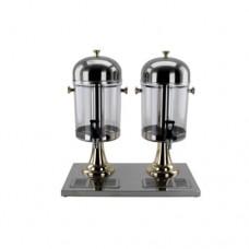 Distributore di succo e bevante in acciaio inox, con colonna refrigerante, capacità 16 lt, completo di rubinetto, dimensioni 350x560xh550 mm