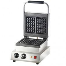 Piastra waffle, in acciaio inossidabile, piastre di cottura in ghisa, dimensioni waffle 160x100 mm altezza circa 32 mm