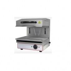Salamandra in acciaio inox, ideale per tostare, riscaldare, grigliare, dimensioni 590x570x580 mm, piano cottura 440x320 mm