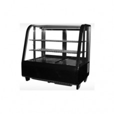 Vetrina espositiva refrigerata, capacità 100 lt, piani regolabili in acciaio inox, dimensioni 682x450x675 mm