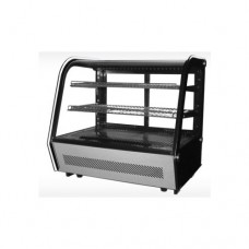 Vetrina espositiva refrigerata, capacità 120 lt, piani regolabili in acciaio inox, dimensioni 702x568x686 mm