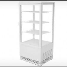 Vetrina refrigerata 4 lati espositivi, colore bianco, temperatura +2° +12° C capacità 78 Lt, dimensioni 425x380x960h mm