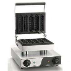 Macchina professionale per waffle, piano di lavoro 270x185 mm, potenza 1,5 kw, dimensioni 340x370x240 mm