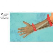 Guanto in acciaio inox, antitaglio, 5 dita, lunghezza avambraccio con cinturino, disponibile taglie da XXS a XL