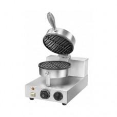 Piastra per waffle, WM1, struttura in acciaio inox, dimensioni 255x435x255/570h mm
