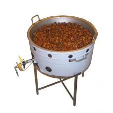 Cuocicastagne professionale su gambe, cottura a gas senza mescolatore, capacità 5 kg, a norme CE,monofase, dimensioni 65x85x86 cm