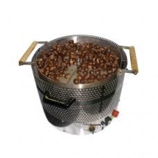 Cuocicastagne professionale da banco a gas, capacità 3 kg, a norme CE,monofase, dimensioni 57x68x40 cm