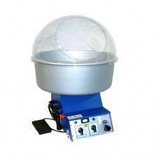 Macchina per zucchero filato, modello elettronico blu, a norma CE, cupola in plexiglass, dimensioni 45x37x43 cm