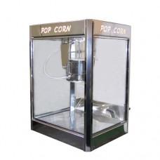 Macchina professionale per pop-corn ad 1 pentola, a norma CE, capacità 600 gr in 3 minuti, 220 V monofase, dimensioni 72x57x103 cm