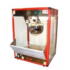 Macchina professionale per pop-corn ad 1 pentola, a norma CE, capacità 300 gr in 3 minuti, 230 V monofase, dimensioni 50x40x70 cm