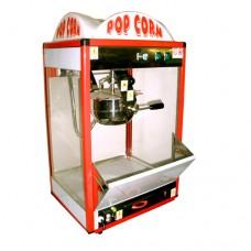 Macchina professionale per pop-corn ad 1 pentola, a norma CE, capacità 350 gr in 3 minuti, 220 V monofase, cupola illuminata, dimensioni 50x40x85 cm