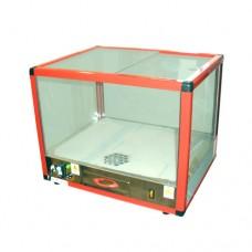 Riscaldatore per popcorn e nachos in acciaio inox, 230 V monofase, a norma CE, dimensioni 40x50x40 cm