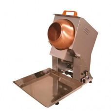 Pralinatrice da banco a gas, scocca zincata, capacità 2 kg, monofase a norme CE,dimensioni 45x75x70 cm