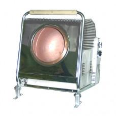 Pralinatrice professionale da banco a gas, scocca in acciaio inox, capacità 4 kg, monofase a norme CE, dimensioni 50x63x67 cm