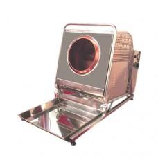 Pralinatrice professionale da banco a gas, scocca in acciaio inox, capacità 4 kg, monofase a norme CE, dimensioni 53x100x70 cm