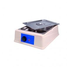Sciogli cioccolato analogico, capacità 9 lt, temperatura regolabile fino a 50° C, contenitore e coperchio in acciaio inox