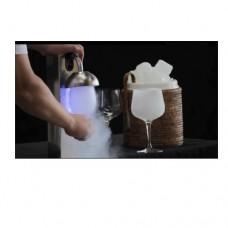 Congela bicchieri istantaneo costruito in acciaio inox, adatto per qualsiasi tipo di bicchiere non necessita la connessione alla rete elettrica, dimensioni 80x200x360h mm