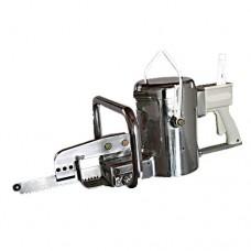 Sega sterno per bovini a funzionamento elettrico. Alto rendimento, particolarmente indicata per impianti medio-piccoli, lunghezza totale 762 mm, taglio sterno in 4 secondi