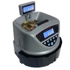 Contamonete, conta e separa le monete euro 2,00 - 0,50 - 1,00 mentre nel 4° contenitore confluisce lo scarto