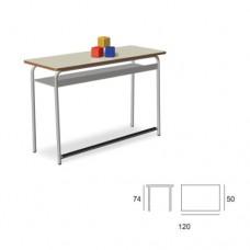 Banco scuola biposto con piano in magnolia, ideale per la scuola e comunità. Modello SC-605