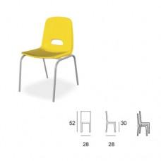Sedia in metallo con seduta e schienale in kastilene , indicata per la scuola e comunità. Modello SC-BABY 601