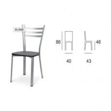 Sedia con struttura in alluminio e seduta in legno, indicata per la casa e il ristorante. Modello SC-150 ELISSE