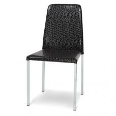 Sedia in metallo con seduta e schienale imbottiti, indicata per la casa e il ristorante. Modello SC-141 GLAMOUR