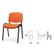 Sedia in metallo con seduta e schienale imbottiti in tessuto, indicata per uffici, meeting, sale corsi e sale attesa. Modello SC-302 VENERE
