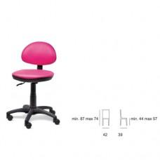 Poltrona da cameretta, ideale per lo studio dei vostri bambini, seduta e schienale in tessuto, ecopelle. Modello SC-304 DATTILO