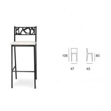 Sgabello struttura telaio in tubolare color nero, seduta imbottita ecopelle, indicato per ristorante, pub, sale giochi. Modello SC-SG 139 SONIA