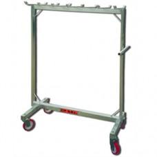 Carrello in acciaio inox, ideale per il trasporto delle salsicce, dimensioni 1500x750xh1690 mm