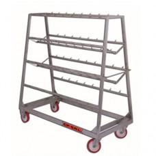 Carrello trasporto in acciaio inox, per usi vari, dimensioni 1700x750xh1760 mm