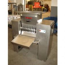 Macchina finimondo per lo sminuzzamento di carne, lardo e affini, in acciaio inox AISI 304, dimensioni 1490x760x1650h mm