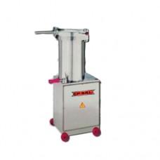 Insaccatrice idraulica modello H15, dimensioni 470x420x1000h mm
