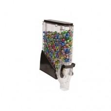 Erogatore trasparente per prodotti sfusi, senza dosatore, dimensioni 100x280xh460 mm, capacità 8 litri